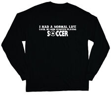 long sleeve t-shirt for men soccer mom soccer dad funny saying tee shirt