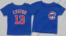 Chicago Cubs Baseball Small Logo Castro Royal Baby Short Sleeve T-Shirt