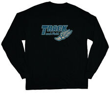 long sleeve t-shirt for men track and field winged shoe design logo tee shirt