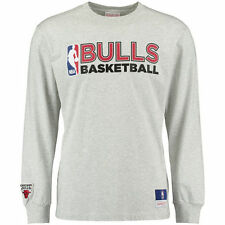 Mitchell & Ness Chicago Bulls Heather Gray Team Issued Long Sleeve T-Shirt