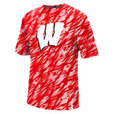 adidas Wisconsin Badgers Red Sideline Shock Energy Training climalite T-Shirt