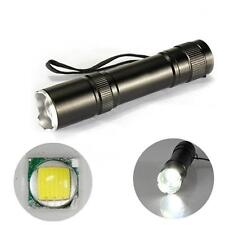 12W CREE Q5 1200 Lm LED Zoomable Mini Flashlight Torch Lamp Light 18650 TA