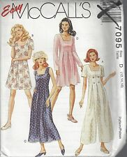 McCalls Sewing Pattern # 7095 Misses Jumpsuit Romper and Dress Choose Size