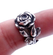 Silver Spoon Ring Tea Rose Reed & Barton Harlequin Floral Ring Spoon Jewelry