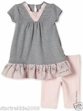 Calvin Klein Jeans Baby Girls Eyelet 2 Pc Set:Tunic & Leggings. Sz.12-18-24. NWT