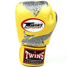 Twins Gold-Sliver Dragon Boxing Gloves Muay Thai Boxing Gloves Twins Special UK