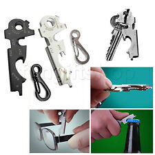 8 in 1 Key chain Gadget Bottle Opener Ring survival Multi function bag Tool nail