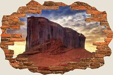 3D Hole in Wall Ayres Rock View Wall Stickers Mural Film Art Decal Wallpaper S63