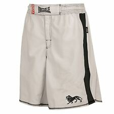 Lonsdale Omnistrike Fight Boxing MMA Shorts Mens White Fight Gym Sports Short