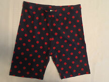 GYMBOREE Size 3 5 or 6 Homecoming Kitty Polka Dot Navy Bike Shorts NWT