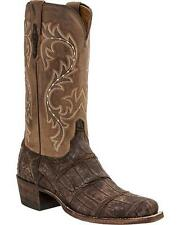 Lucchese M3195 74 Mens Chocolate Giant Alligator Leather Western Cowboy Boots