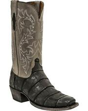 Lucchese M3196 74 Mens Black Giant Alligator Leather Western Cowboy Boots