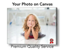 """Personalised 16"""" x 12"""" A3 Canvas , Your PHOTO/PICTURE -280gsm, 18mm Frame"""