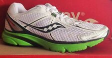 SAUCONY PROGRID MIRAGE-Womens Running New Shoes-White/Gray/Green-10092-7