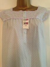 BNWT M&S Lilac Spot Embroidered Short Sleeved Nightdress Nightie 20-22 Short