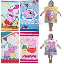 PEPPA PIG GEORGE PONCHO & TOWELS KIDS VARIOUS DESIGNS 100% OFFICIAL FREE P+P