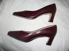 "Women's Wine  LEATHER PUMPS Shoes  ""NEW""  ETIENNE AIGNER  SIZE 8 1/2 N  No box"