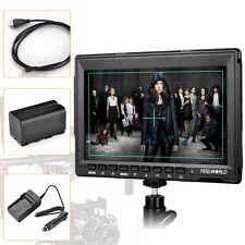 "Feelworld 7"" Slim HD IPS 1280x800 Field Monitor HDMI Input F BMPCC Battery Pack"