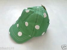 Next Baby Girl`s Summer Green Spotted Cotton Cap Size 3-6,6-12mths,1-2yrs