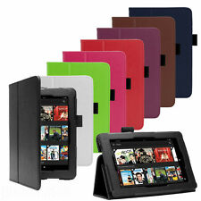 """PREMIUM PU LEATHER CASE COVER FOR AMAZON KINDLE FIRE HD 6"""", HD 7"""", HDX 7"""" TABLET"""