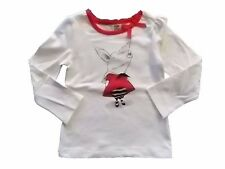 NWT Girl's Gymboree Olivia pig ivory long sleeve shirt ~ 8 10 FREE SHIPPING!