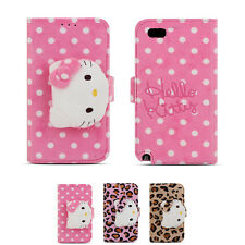 Hello Kitty Rag Doll Plush Button Card Wallet Cover Case For Apple iPhone 5 / 5S
