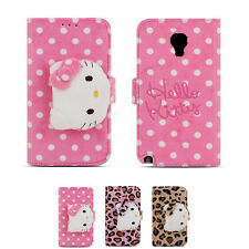 Hello Kitty Rag Doll Plush Button Card Wallet Cover Case For Samsung Galaxy S4