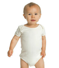 3 x Pack Baby Bamboo Short-Sleeve Onesies in sizes 0-3, 3-6, 6-12mths
