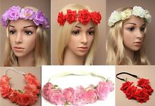 Boho Ladies Flower Festival Wedding Garland Forehead Hair Headband Head Band NEW