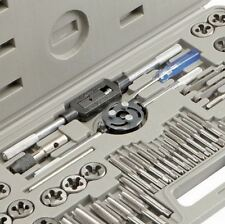 Pro Tap and Die quality set. SAE & Metric. 60Pc. Alloy steel Adj. wrench handle.