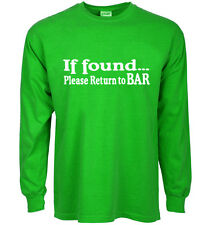 funny st patricks day t-shirt if found please return to bar paddys day beer tee