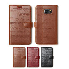 Zenus Lettering Leather Protect Diary Slim Cover Case For Samsung Galaxy Note5