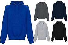 New Boys Plain Hoodie Boys Top Pullover Mens Jumper Sweatshirt Hoody Sizes S-2XL