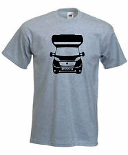 MOTORHOME T-SHIRT PERSONALISED REGISTRATION PLATE TSHIRT CAMPER SIZES S-XXL