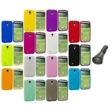 Silicone Rubber Soft Case Cover+Car Charger for Samsung Galaxy S4 S IV i9500