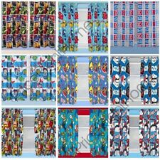 """BOYS BEDROOM CHARACTER CURTAINS MARVEL,STAR WARS, PAW PATROL + MORE IN 54"""" & 72"""""""