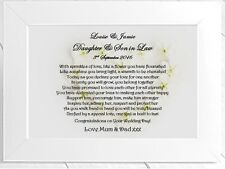 Personalised Framed Wedding Card - Suitable For Daughter and Son
