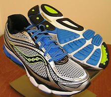 SAUCONY Progrid Omni 11 Mens Running Shoes White Blue & Green 8  M NEW