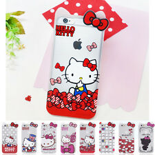 Hello Kitty Inmold Clear Shockproof Bumper Cover Case For Apple iPhone 6 / 6S