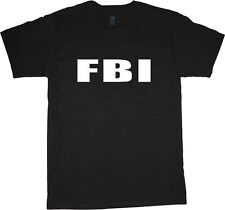 FBI t-shirt for men black fbi tee shirt costume uniform fbi shirts men's tshirt