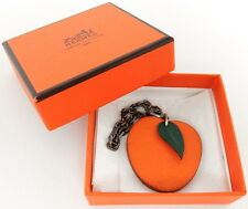 AUTHENTIC HERMES Apricot Orange Fruit Motif Charm Accessories