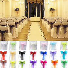 21 Color 1pcs Organza Chair Cover Sash Bow Wedding Party Banquet Reception Decor
