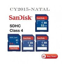 Genuine Flash Memory Card SanDisk 8GB 16GB 32GB 64GB Class 4 Digital Camera SD