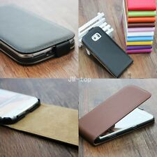 New Magnetic Flip Genuine Real Leather Phone Case Cover For Huawei Ascend