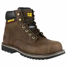Men's Caterpillar Work Boots Electric 6 Inch Brown Steel Toe P90425 Wide