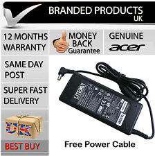 Genuine Original Acer Aspire Laptop Power Supply Cable Ac Adapter UK Charger for