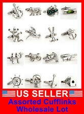 Men's Cufflinks Stainless Steel Classic Novelty wedding Wholesale Lot CLEARANCE