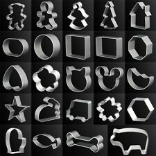 DIY Aluminum Baking Sugar Cake Biscuit Chocolate Cookie Cutter Mold Tools WB