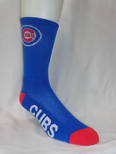 Chicago Cubs Baseball Adult Flex Top Deuce Crew Socks Logo Leg Name Foot Royal