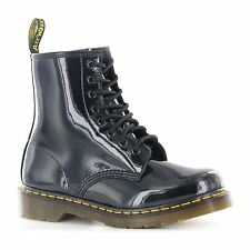 Dr.Martens 1460 8 Eyelet Patent Black Womens Boots